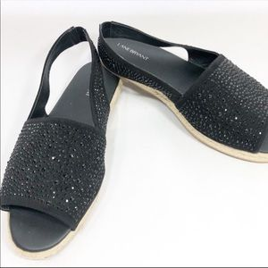Lane Bryant Black beaded sandals 12w